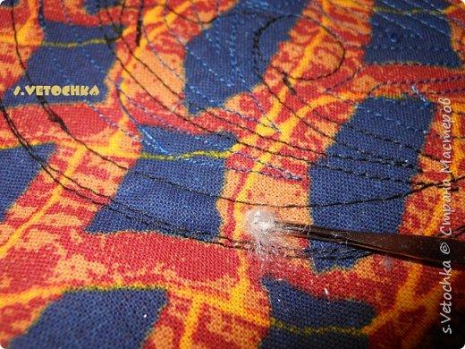 Училась создавать фактурную поверхность на простой ткани. У меня-джинса. фото 17