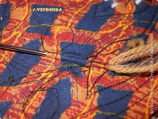 Училась создавать фактурную поверхность на простой ткани. У меня-джинса. фото 18