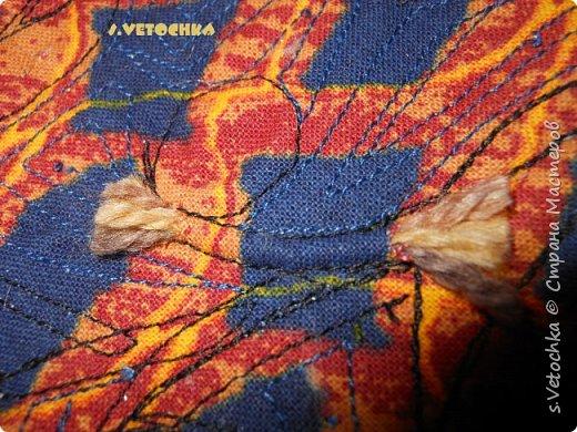 Училась создавать фактурную поверхность на простой ткани. У меня-джинса. фото 19