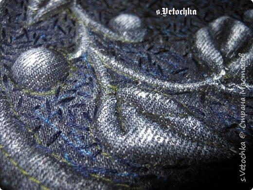 Училась создавать фактурную поверхность на простой ткани. У меня-джинса. фото 24