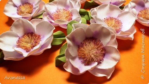 Простые цветочки для весеннего веночка.МК