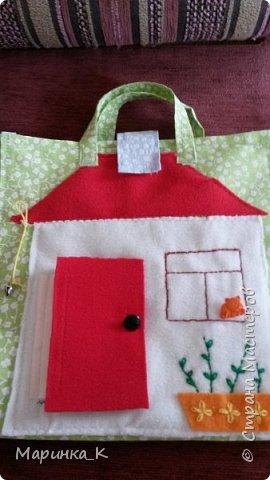 Сшила сумочку- домик для своей старшей дочки. Большое спасибо Rostoff и Наталии Науменко за идеи. Дверца домика - на липучке. Колокольчик звенит.  фото 1