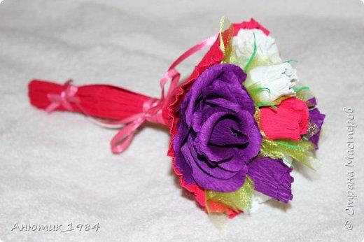 """Сладкая корзинка с розами. всего 15 штук, конфетка """"Марсианка"""" фото 12"""