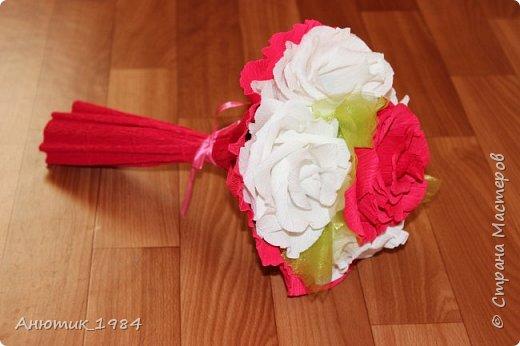 """Сладкая корзинка с розами. всего 15 штук, конфетка """"Марсианка"""" фото 11"""