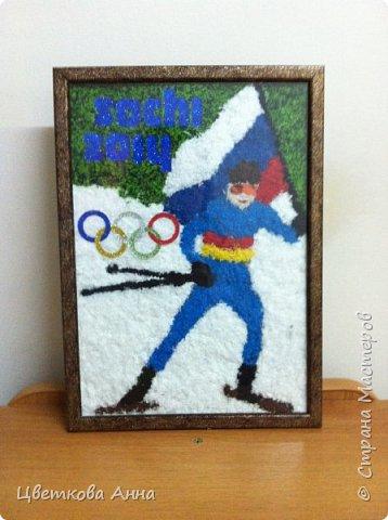 Лыжник. По мотивам Олимпиады в Сочи 2014.