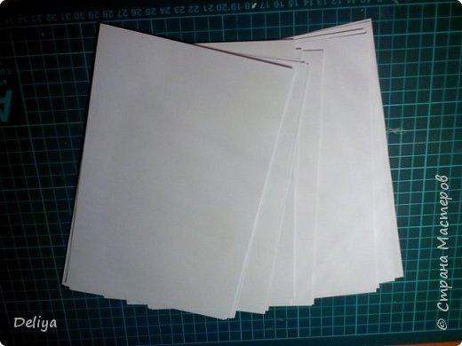Обещанный МК по обложке Блокнота, но я решила, что нужно начать с самого начала. Итак, блок бумаги, листов блокнота. Я взяла маленький размер листочков 21*14 см фото 1