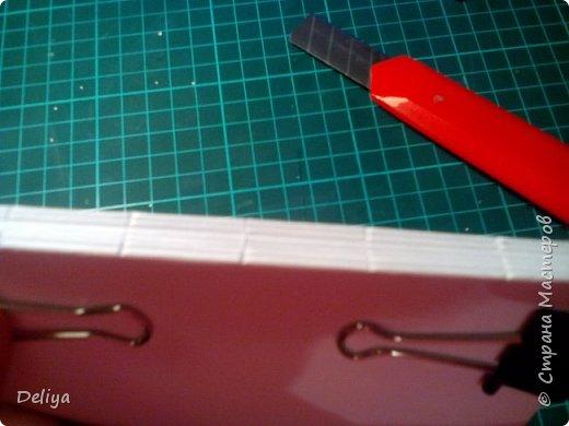 Обещанный МК по обложке Блокнота, но я решила, что нужно начать с самого начала. Итак, блок бумаги, листов блокнота. Я взяла маленький размер листочков 21*14 см фото 5
