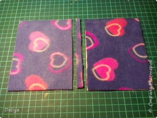 МК №2 по созданию блокнота в мягкой тканевой обложке фото 4