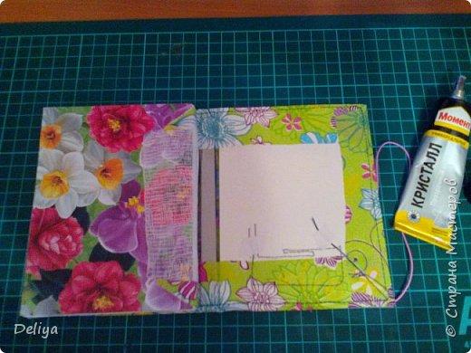 МК №2 по созданию блокнота в мягкой тканевой обложке фото 22