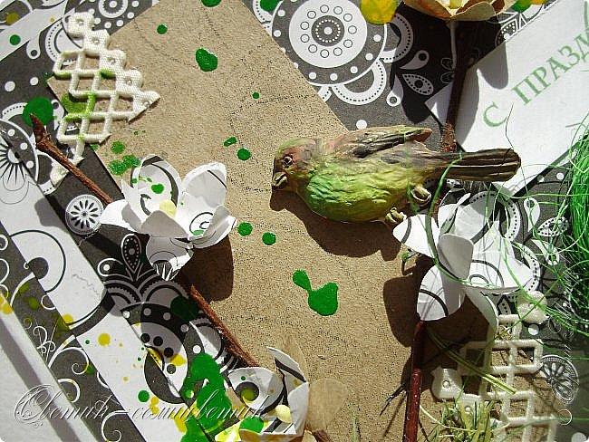Доброго всем весеннего дня! Надеюсь, что эти птички свили свои гнезда последними этой весной:) И если мы с птичками вам еще не надоели, то приглашаю посмотреть на 2 новые открытки:) фото 4
