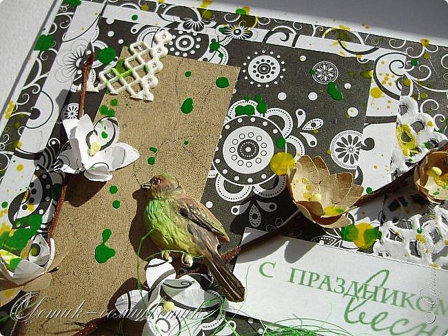 Доброго всем весеннего дня! Надеюсь, что эти птички свили свои гнезда последними этой весной:) И если мы с птичками вам еще не надоели, то приглашаю посмотреть на 2 новые открытки:) фото 5