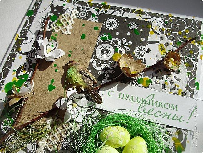 Доброго всем весеннего дня! Надеюсь, что эти птички свили свои гнезда последними этой весной:) И если мы с птичками вам еще не надоели, то приглашаю посмотреть на 2 новые открытки:) фото 6