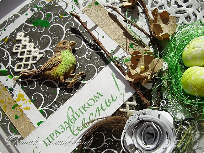 Доброго всем весеннего дня! Надеюсь, что эти птички свили свои гнезда последними этой весной:) И если мы с птичками вам еще не надоели, то приглашаю посмотреть на 2 новые открытки:) фото 8
