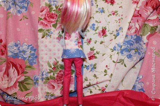 Привет Стране Мастеров!К нам в город пришла весна.А весна у меня ассоциируется с розовым цветом.У меня было солнечное и романтичное настроение и такое же настроение я пыталась вложить в одежду.Создалась одежда,создалась и фотосессия . фото 4