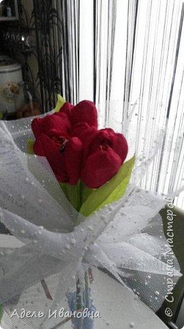 Почему -  красный мак))) хотя это тюльпаны, да потому что в моих тюльпанах конфетки - Красный мак. Ммммм, вкусненько. фото 4