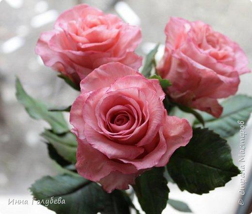 Девочки,и опять я с розами) Надеюсь,вы еще от них не устали.Я,например,уже немного устала,но мои заказы идут в такой последовательности: розы,розы,розы,какие-то другие цветы или композиция и снова розы,розы....Нет,вы не подумайте,я не жалуюсь) Значит буду набирать опыт и навыки на розах) Желаю приятного просмотра) фото 2