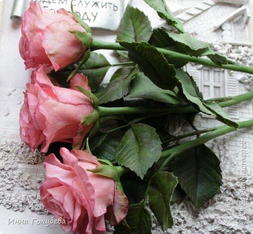 Девочки,и опять я с розами) Надеюсь,вы еще от них не устали.Я,например,уже немного устала,но мои заказы идут в такой последовательности: розы,розы,розы,какие-то другие цветы или композиция и снова розы,розы....Нет,вы не подумайте,я не жалуюсь) Значит буду набирать опыт и навыки на розах) Желаю приятного просмотра) фото 1