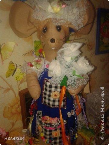 мышка на банку-хранительница пуговок по выкройкам из журнала Лена-рукоделие фото 4