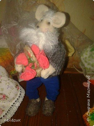 мышка на банку-хранительница пуговок по выкройкам из журнала Лена-рукоделие фото 8