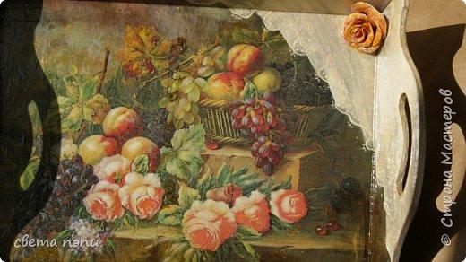 салфетница  внизу холодный фарфор покрашен под серебро. Розы выделены гелем. фото 5