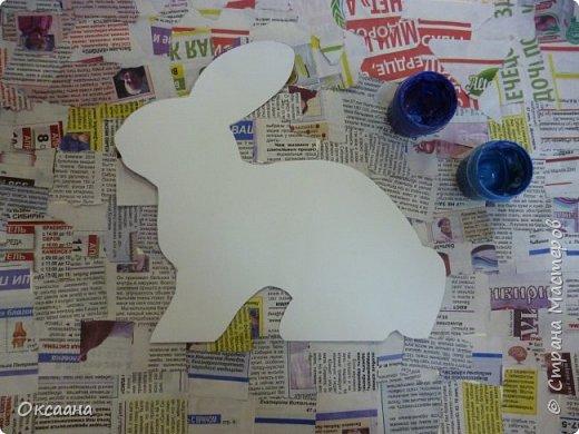 Пасхальный заяц, выполняется так же как и курочки. фото 3