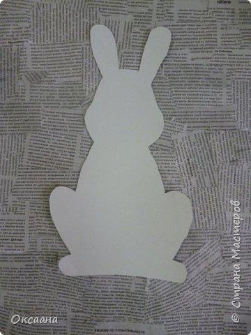 Пасхальный заяц, выполняется так же как и курочки. фото 4
