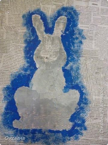 Пасхальный заяц, выполняется так же как и курочки. фото 8