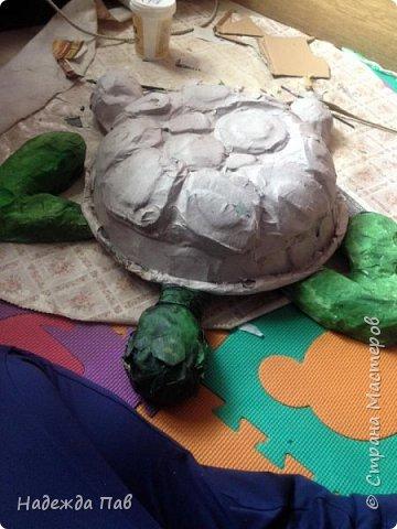 Черепаха papier mashe фото 2