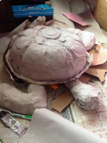 Черепаха papier mashe фото 3