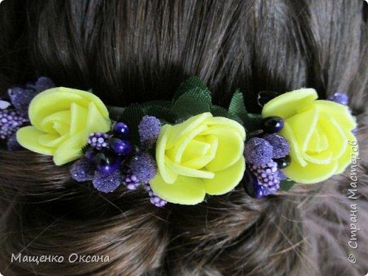 Цветы из фоамирана фото 5