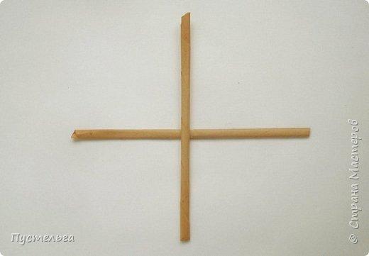 Вариант простой поделки к Пасхе из газетных трубочек. фото 9