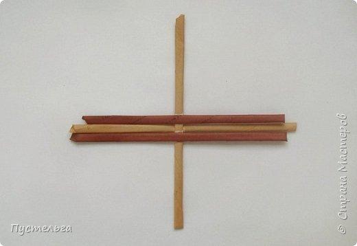Вариант простой поделки к Пасхе из газетных трубочек. фото 10
