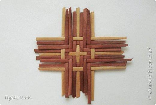 Вариант простой поделки к Пасхе из газетных трубочек. фото 18