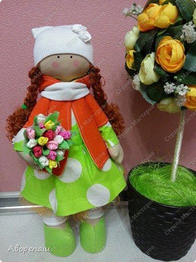 Вот и еще одна куколка. Навеяло весной. Хотелось что-то яркое и вот она на ваш суд. фото 1