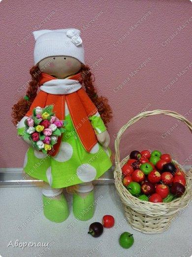 Вот и еще одна куколка. Навеяло весной. Хотелось что-то яркое и вот она на ваш суд. фото 2