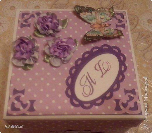 Коробочка-сюрприз -подарок.Очень торопилась-- забыла бабочке усики сделать... фото 1