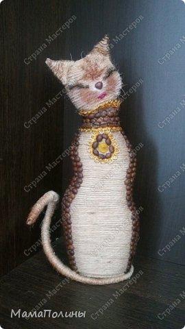Приветствую всех гостей и жителей Страны Мастеров!На ваш суд представляю свою кошечку из шпагата.Не шедевр,но мне нравится.Делала для своей тетушки,надеюсь и ей понравится. фото 1