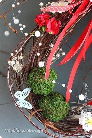 """1.""""Светлая Пасха""""  состав - венок из веток, яйца и ягоды декоративные фото 24"""