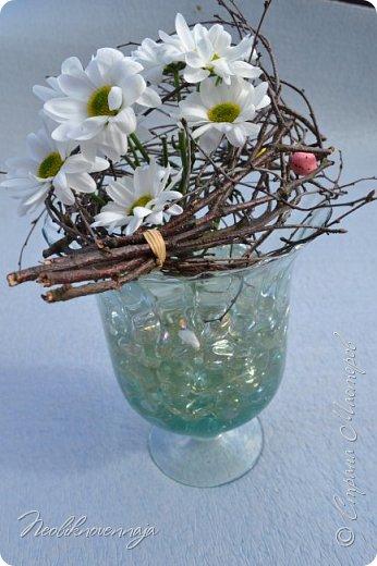 """1.""""Гнёздышко весеннее"""" Состав: керам.кашпо, флор.губка (оазис), сизаль, пенопластовые яйца. Цветы и зелень: альстромерия, кустовая роза, статица, салал, фисташка, пастушья сумка.  фото 13"""