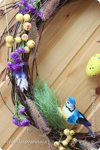 """1.""""Светлая Пасха""""  состав - венок из веток, яйца и ягоды декоративные фото 15"""