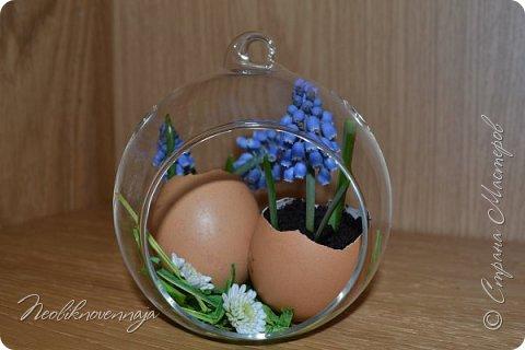 """1.""""Гнёздышко весеннее"""" Состав: керам.кашпо, флор.губка (оазис), сизаль, пенопластовые яйца. Цветы и зелень: альстромерия, кустовая роза, статица, салал, фисташка, пастушья сумка.  фото 22"""