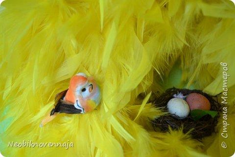 """1.""""Светлая Пасха""""  состав - венок из веток, яйца и ягоды декоративные фото 29"""