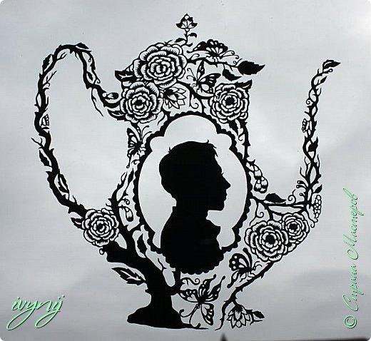 Чайничек с мужским профилем от Мило ( http://milodidit.blogspot.ie/2011/03/tea-dreams-i-ii.html ),вырезала в пару  к женскому(http://stranamasterov.ru/node/908235). фото 4