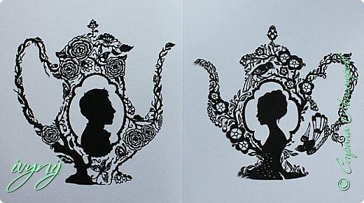 Чайничек с мужским профилем от Мило ( http://milodidit.blogspot.ie/2011/03/tea-dreams-i-ii.html ),вырезала в пару  к женскому(http://stranamasterov.ru/node/908235). фото 7