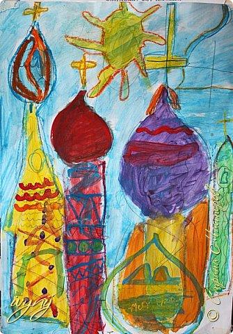 Мой сын ходит на рисование,хочу поделиться результатом его трудов.Ребенку 6 лет.Начал в сентябре и тематика соответствующая...осень....Кое кто решил подправить .. фото 13