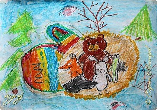 Мой сын ходит на рисование,хочу поделиться результатом его трудов.Ребенку 6 лет.Начал в сентябре и тематика соответствующая...осень....Кое кто решил подправить .. фото 6