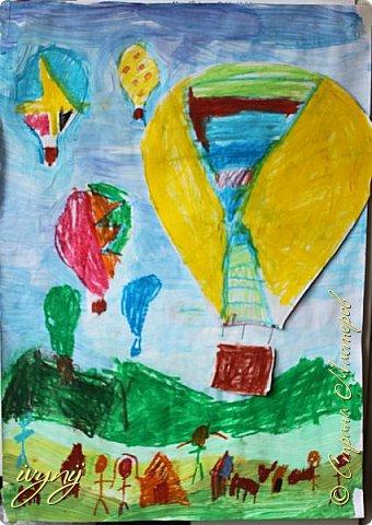 Мой сын ходит на рисование,хочу поделиться результатом его трудов.Ребенку 6 лет.Начал в сентябре и тематика соответствующая...осень....Кое кто решил подправить .. фото 12