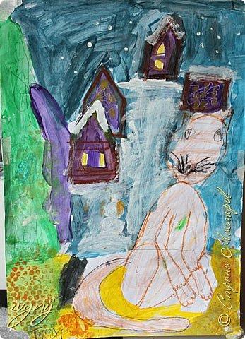 Мой сын ходит на рисование,хочу поделиться результатом его трудов.Ребенку 6 лет.Начал в сентябре и тематика соответствующая...осень....Кое кто решил подправить .. фото 7