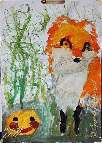 Мой сын ходит на рисование,хочу поделиться результатом его трудов.Ребенку 6 лет.Начал в сентябре и тематика соответствующая...осень....Кое кто решил подправить .. фото 4