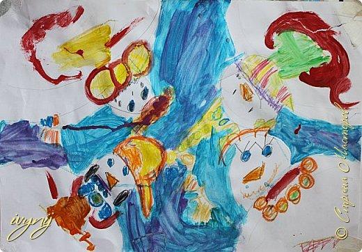 Мой сын ходит на рисование,хочу поделиться результатом его трудов.Ребенку 6 лет.Начал в сентябре и тематика соответствующая...осень....Кое кто решил подправить .. фото 8